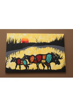 "Raymond Linklater ""Moose Family"""