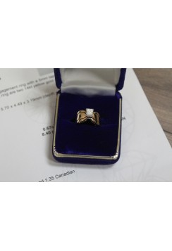 14kt yellow gold ladies solitaire engagement 0.67ct diamond ring